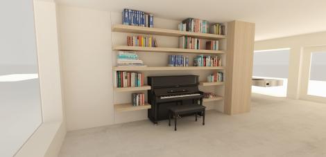 Woning - Particulier 3D tekening Piano